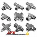 Tee & Cross Piece Mild Steel Hydraulic Adaptors (T's & X's)